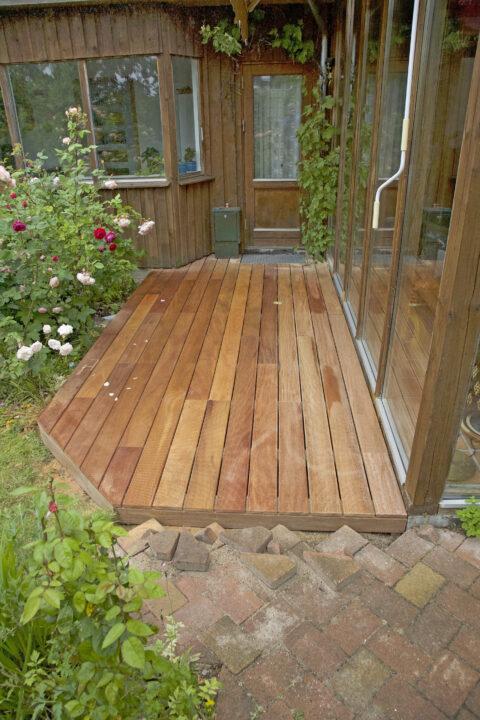 : Lille terrasse på Amager